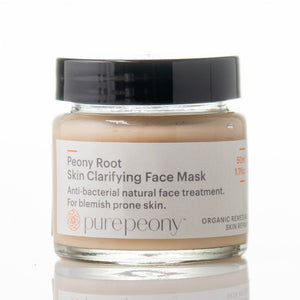 Pure Peony Root Skin Clarifying Face Mask - for acne & blemish prone skin - 50mls glass pot SOLD OUT