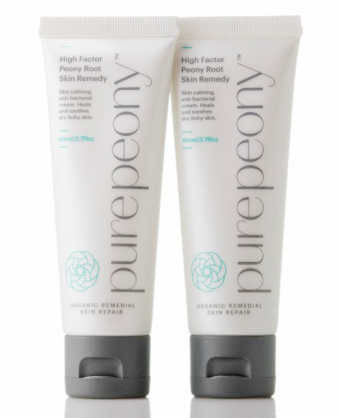 High Factor Peony Root Skin Remedy Twin Pack  (Sensitive Cream) for eczema - Monthly Subscription