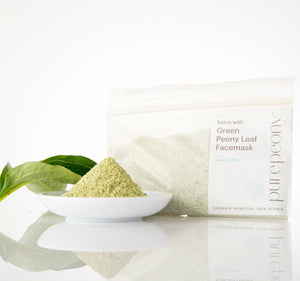 Detox Green Peony Leaf Facemask - Cooling and Cleansing 50gm