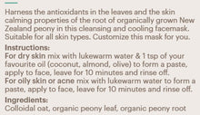 Load image into Gallery viewer, Detox Green Peony Leaf Facemask - Cooling and Cleansing 50gm
