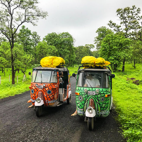 Team Coddies Fish Flops Rickshaw Run through India