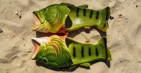 Coddies Fish Flops, summer flip flops, fish shoes, fish slippers, sun, fun