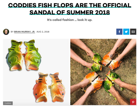 Coddies Fish Flops on Best Products