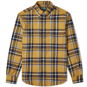 Gitman Vintage Rough Check Flannel in Yellow