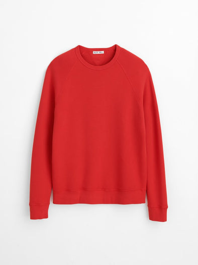 Alex Mill French Terry Sweatshirt in Berry Red