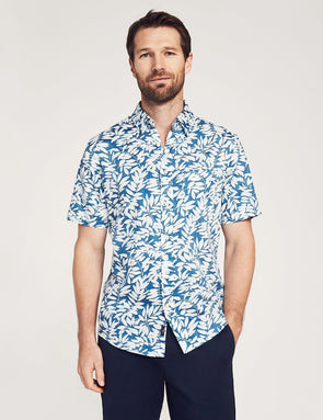 Playa SS Shirt Faded Blue - JOURNEYMAN CO.