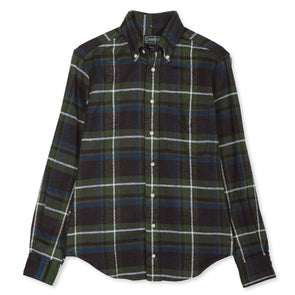 Gitman Vintage Rough Check Flannel in Olive