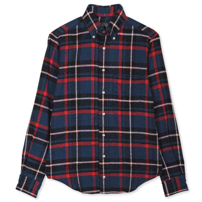 Gitman Vintage Rough Check Flannel in Blue