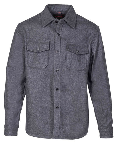 CPO Wool Shirt Jacket in Grey
