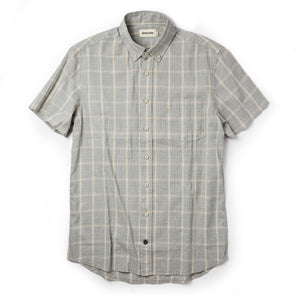 Taylor Stitch SS Shirt in Ash Madras