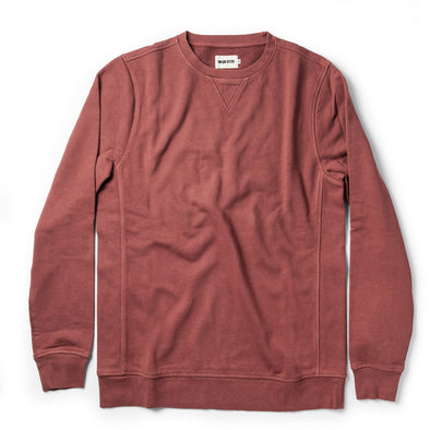 Taylor Stitch Crewneck Sweatshirt in Brick Red