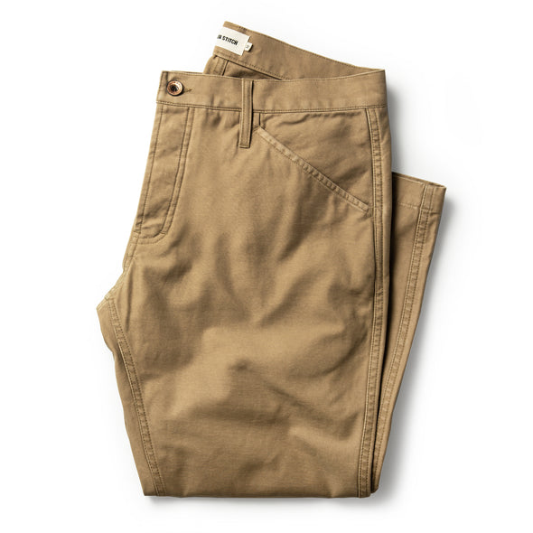 Camp Pant - Natural Reverse Sateen in Khaki
