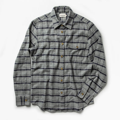 Taylor Stitch Crater Flannel Shirt in Ash Plaid