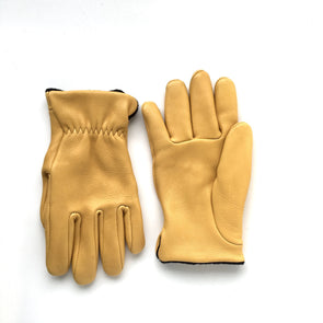 Deerskin Roper Glove in Gold