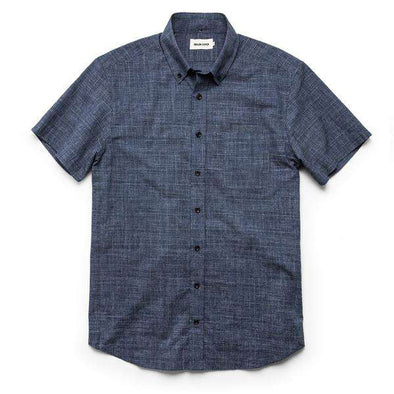 Slub Glen Plaid SS Shirt