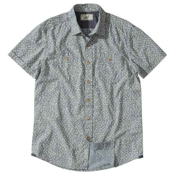 Drayton Printed Chambray SS Shirt - JOURNEYMAN CO.
