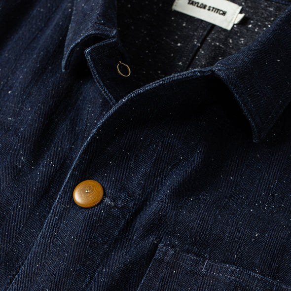 Indigo Herringbone Ojai Jacket - JOURNEYMAN CO.