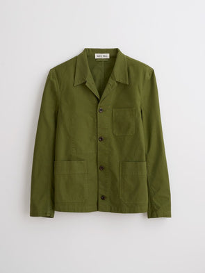 Garmet Dyed Work Jacket Army Green