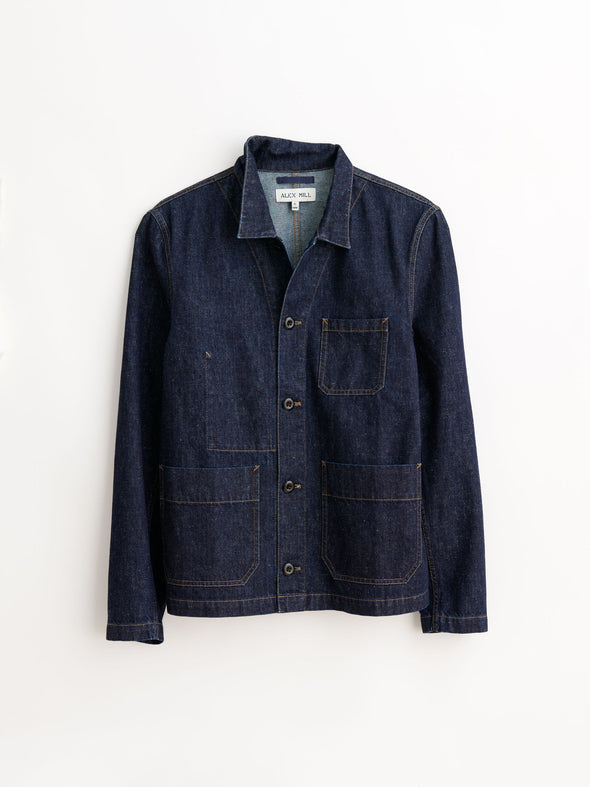 Nepped Denim Work Jacket