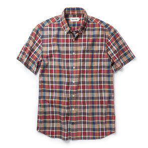 Red Madras SS Shirt - JOURNEYMAN CO.