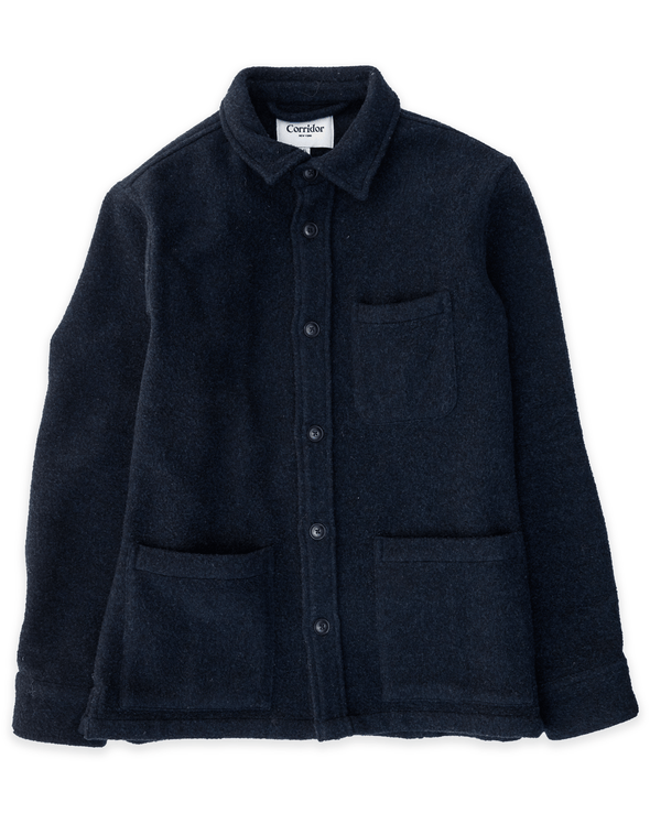 Corridor Lambswool Jacket in Navy