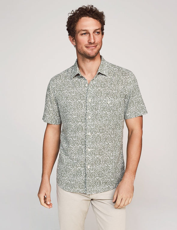 Island Print SS Shirt - JOURNEYMAN CO.