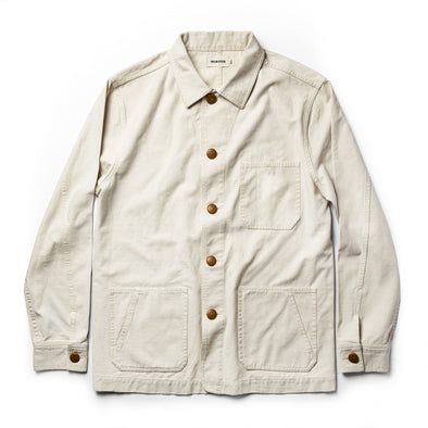 The Ojai Jacket in Natural Reverse Sateen - JOURNEYMAN CO.