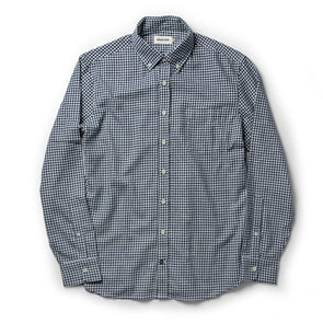 Taylor Stitch Brushed Gingham Shirt in Navy