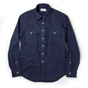 Taylor Stitch Yosemite Flannel Shirt in Navy