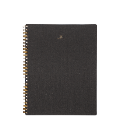 Appointed Notebook in Charcoal Grey
