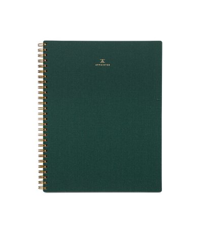 Appointed Notebook in Hunter Green