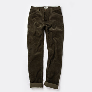 Taylor Stitch Camp Pant in Olive Cord