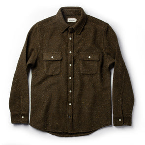 Taylor Stitch Leward Shirt in Olive Donegal