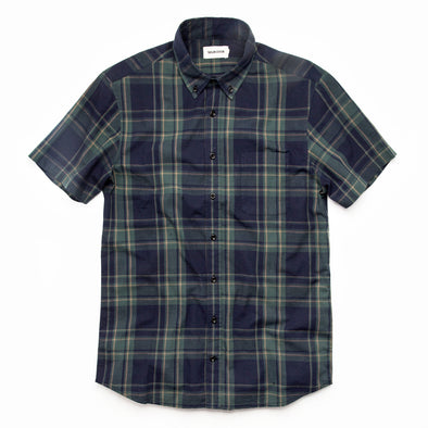 Green Madras SS Shirt - JOURNEYMAN CO.