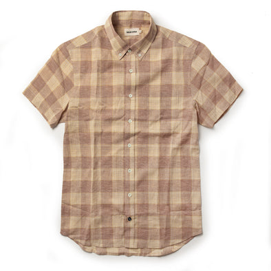 Taylor Stitch SS Shirt in Red Madras