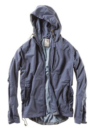 Highpoint Waterproof Jacket - Navy Grid - JOURNEYMAN CO.