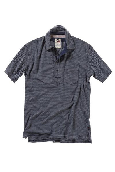 Finespun Striped Polo Navy/LT. Blue