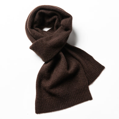 Taylor Stitch Baby Yak Scarf in Chocolate