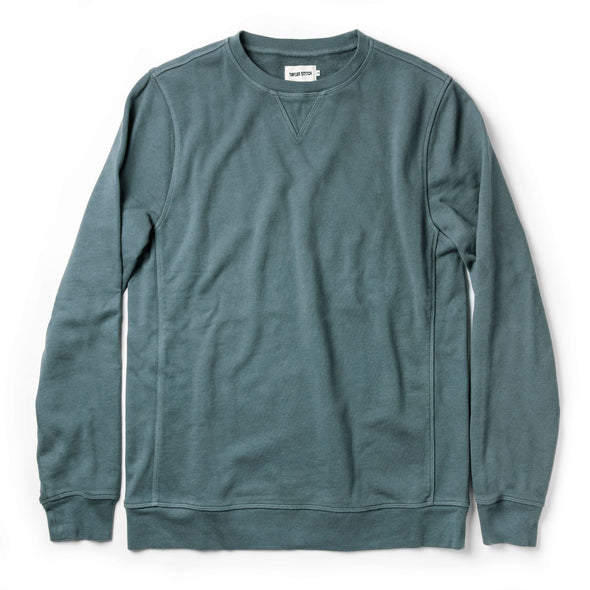 Taylor Stitch French Terry Sweatshirt in Sea Green