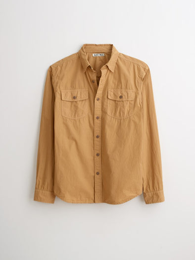 Field Shirt Garment Dyed Paper Cotton Light Khaki
