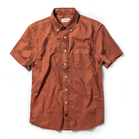Terracotta Oxford SS Shirt - JOURNEYMAN CO.