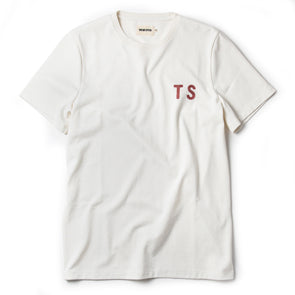 Taylor Stitch Heavy Bag Tee in Natural