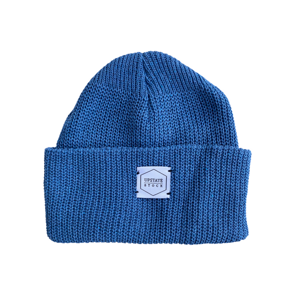 Upstate Stock Eco-Cotton Watchcap in Cerulean