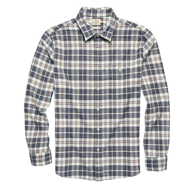 Faherty Featherweight Stretch Flannel Shirt in Ranier Plaid