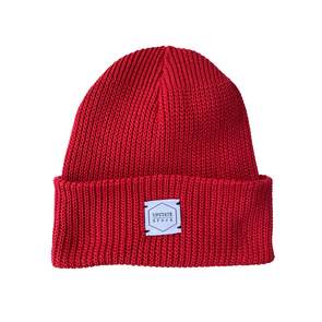 Upstate Stock Eco-Cotton Watchcap in Cherry Red