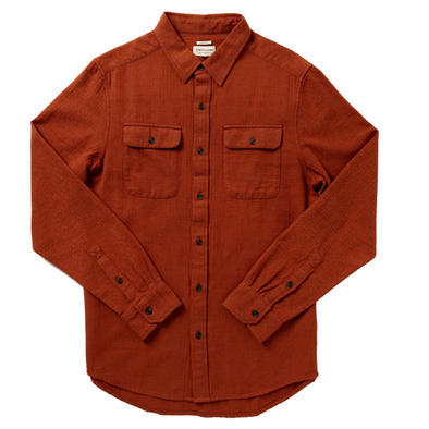 Bedford Herringbone Shirt in Russet