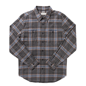 Winslow Flannel Shirt in Charcoal Plaid