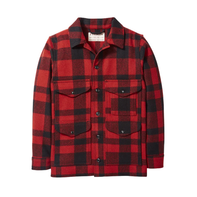 Filson Mackinaw Cruiser in Red/Black Plaid