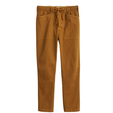 Alex Mill Pull-On Button Fly Pant in Golden Khaki
