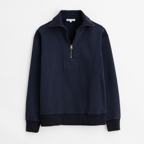 Alex Mill 1/2 Zip Sweatshirt in Deep Navy